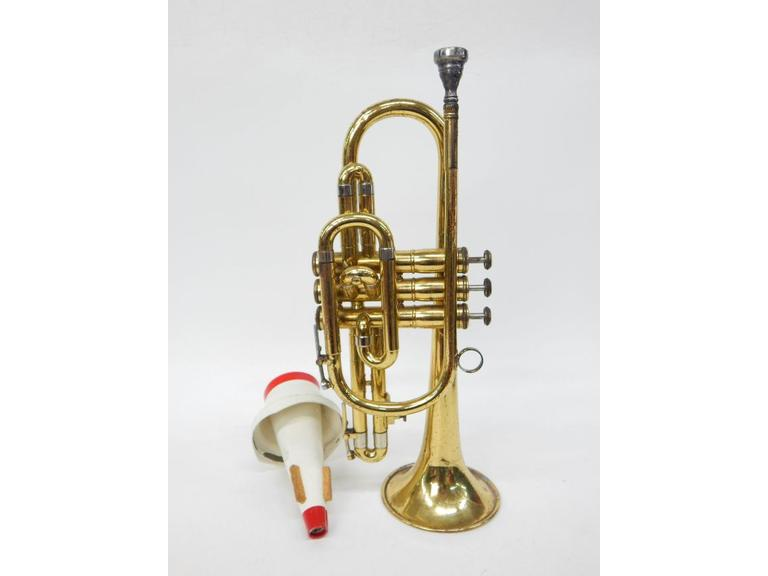 Brass Cornet with Case