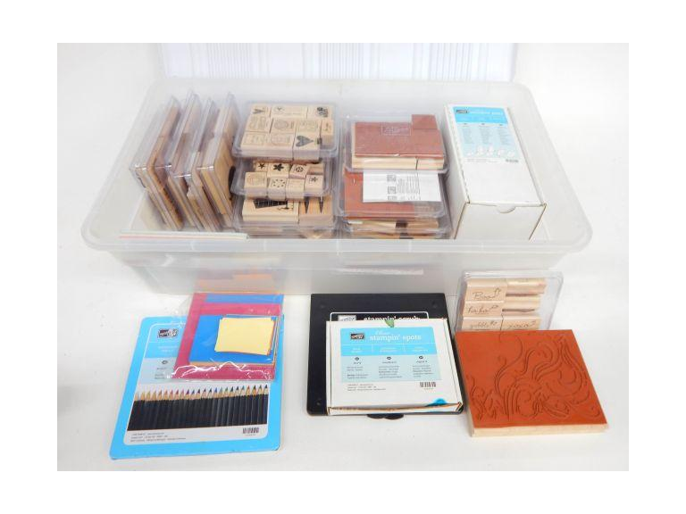 Large Collection of Rubber Stamps and Pads
