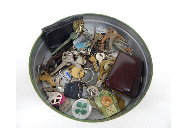 Antique Keys, Key Chains and Holders