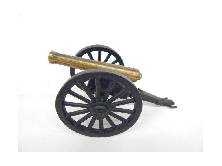 Vintage Iron and Brass Cannon