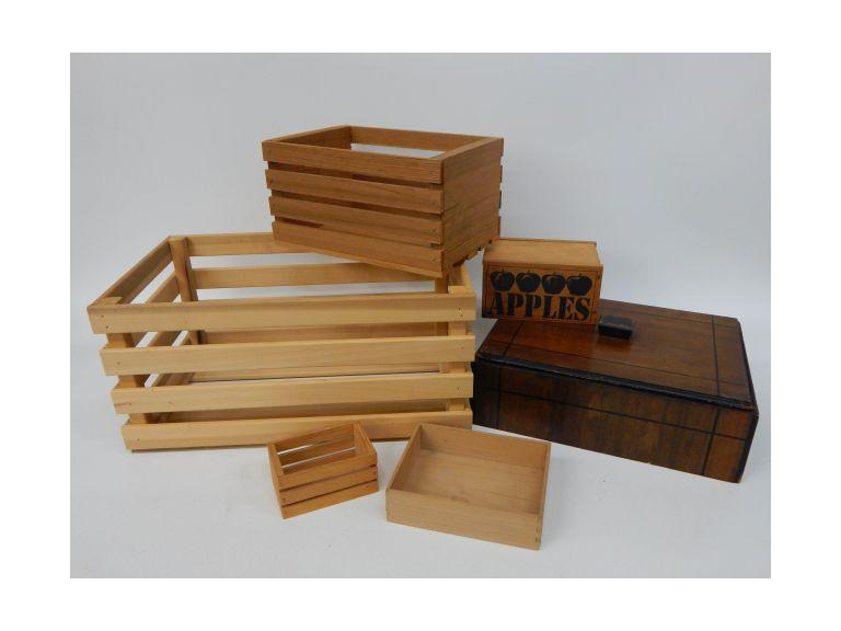 Collection of Wooden Storage boxes and crates