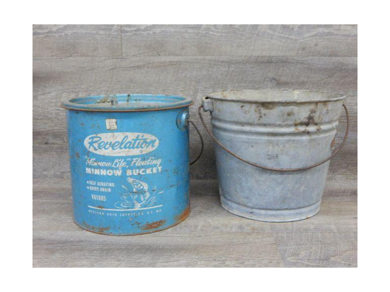 Pair of Vintage Metal Buckets