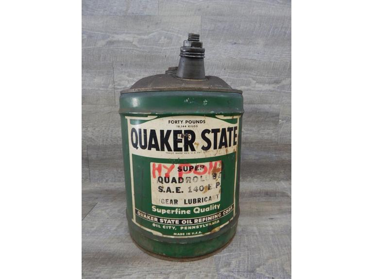 Vintage 40lb Quaker State Oil Can