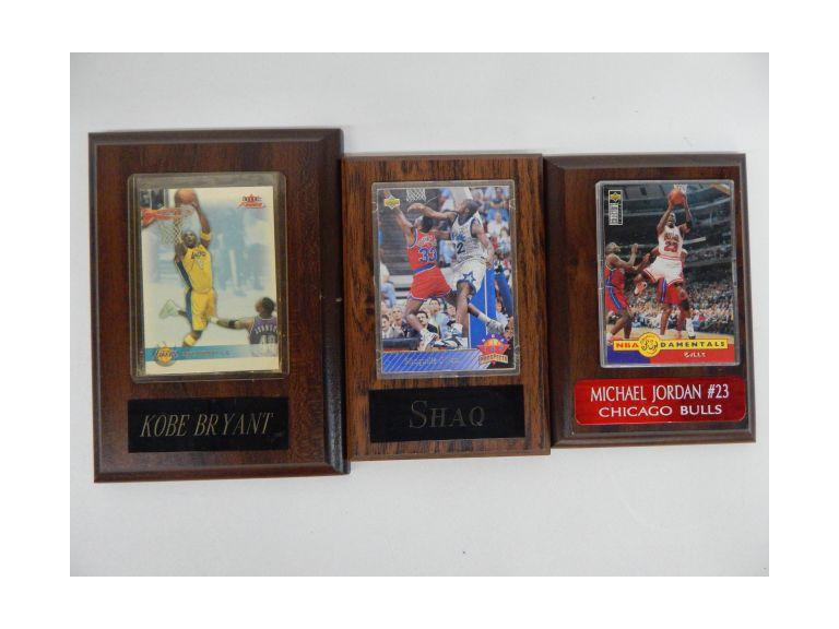 Wood Plaque Basketball All Star Cards