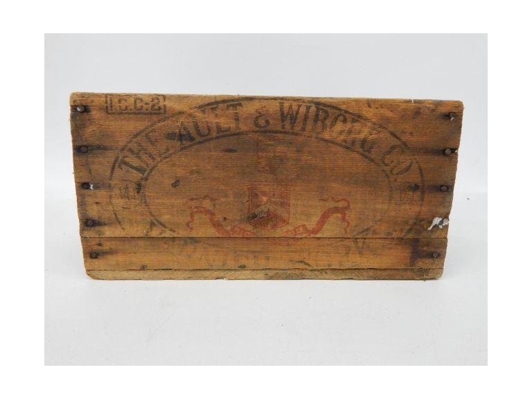 Ault & Wiborg Co. Wooden Crate