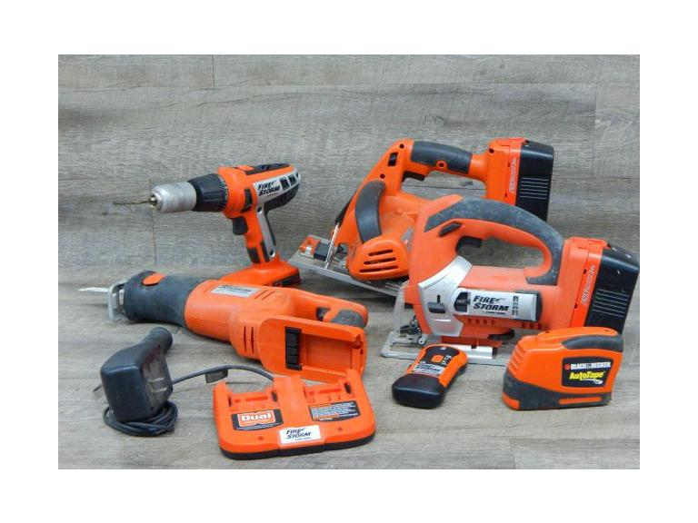 Black & Decker Firestorm Cordless Tools