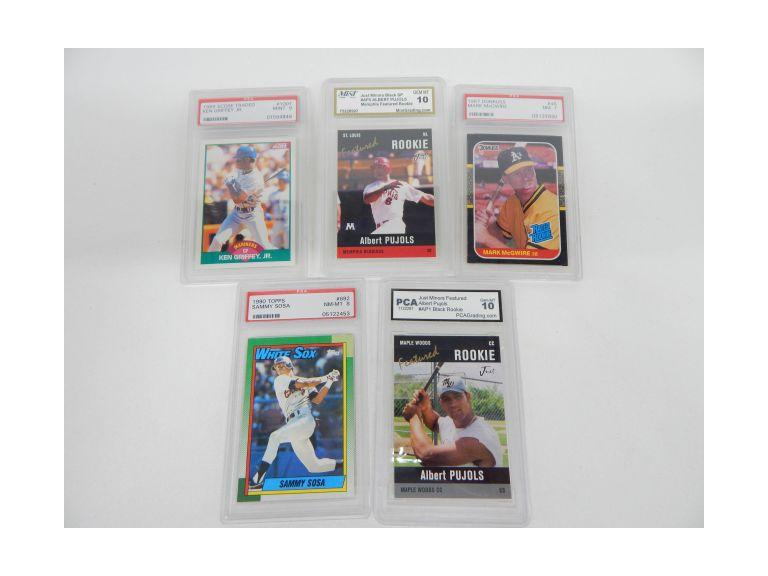 Collection of Graded Baseball Rookie Cards