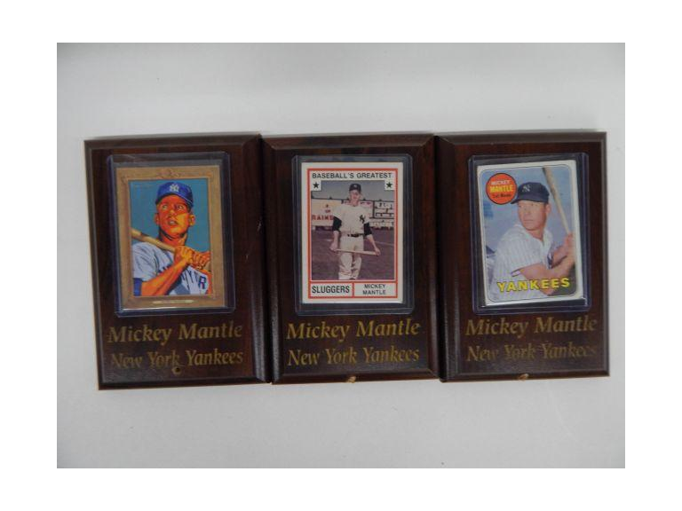Mickey Mantle Baseball Card Plaques