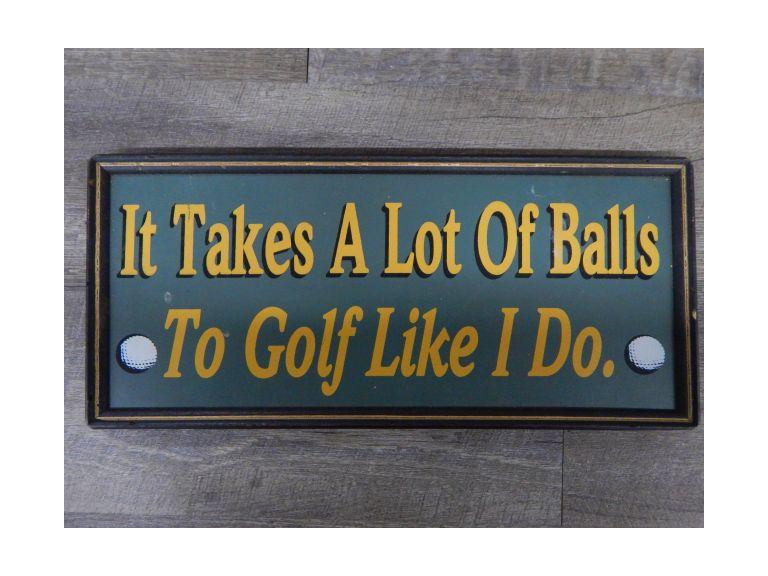 Humorous Golfers Sign