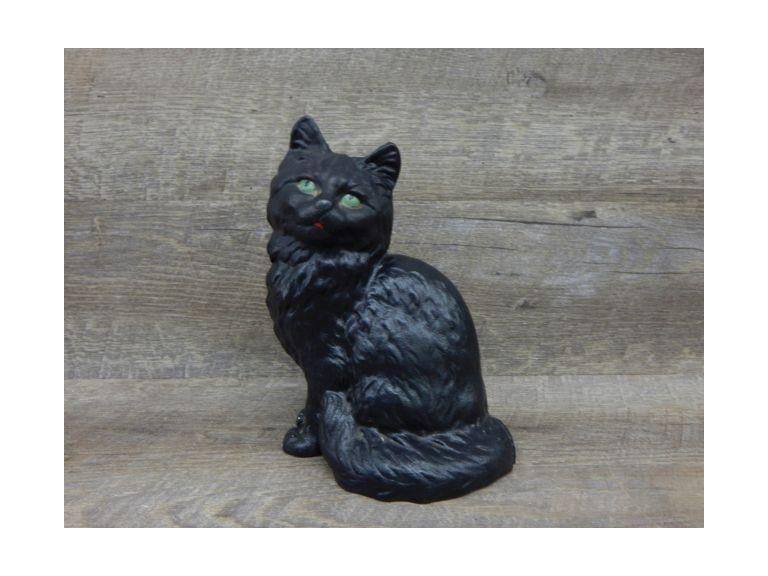 Cast Iron Green Eyed Cat Doorstop