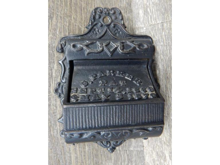 Antique Cast Iron Match Holder