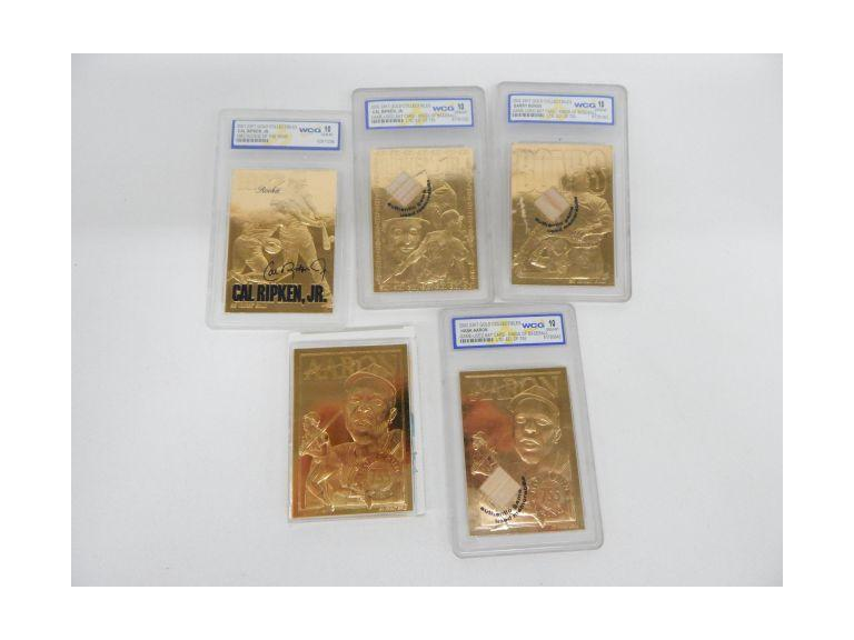 Graded 23Kt Gold Baseball Cards