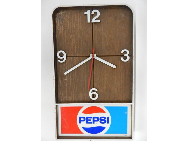 Pepsi Cola Electric Wall Clock
