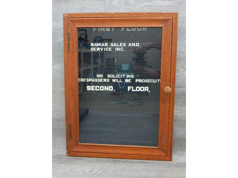 Old Wood Cased Message Board