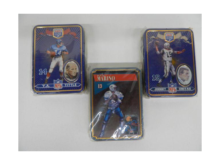 Quarterback Cards and Tins