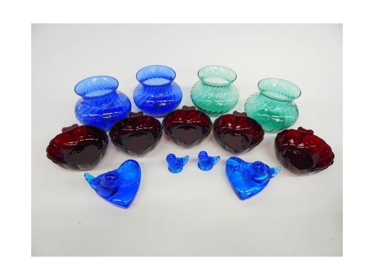 Collection of Colorful Glass Pieces