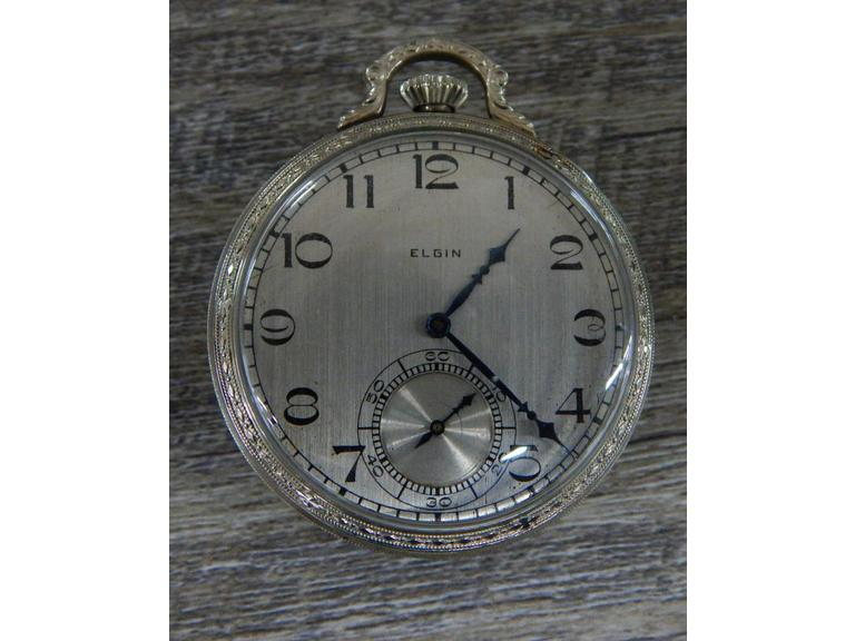 1927 Elgin 12S 7j Gold Filled Pocket Watch