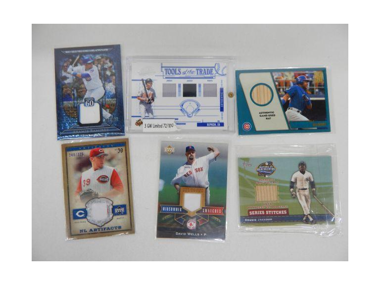 Collection of Game Used Baseball Cards