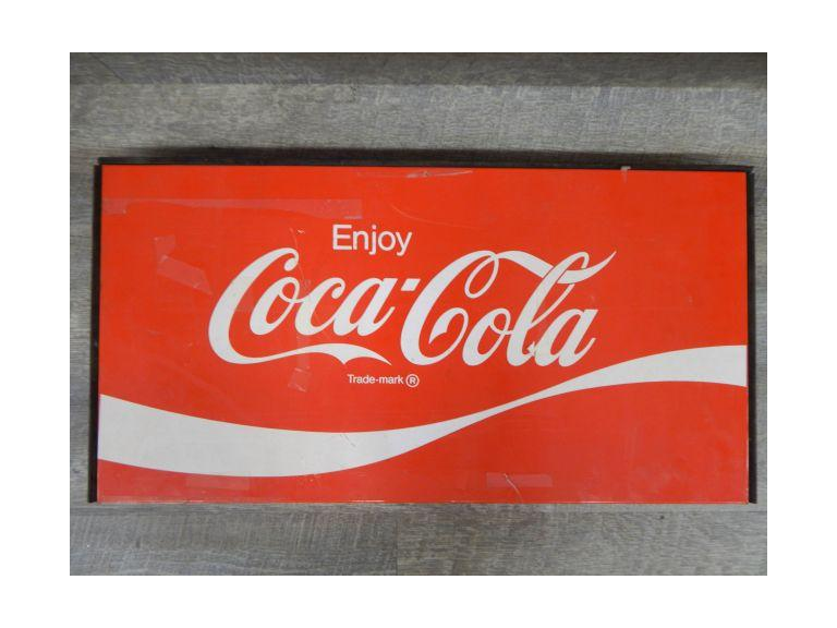 Coca Cola Pressed Steel Sign