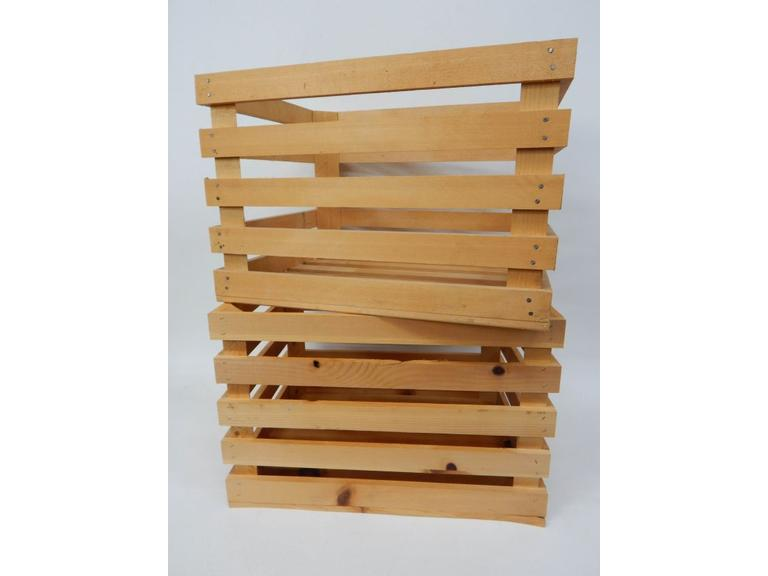 Newer Slatted Wood Crates