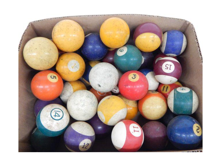 Collection of Vintage Billiard Balls