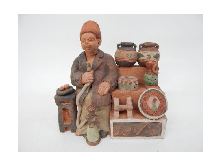 Hand Crafted Clay Art Piece