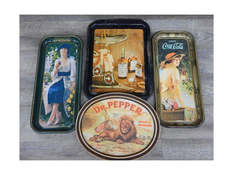 Collection of Advertising trays