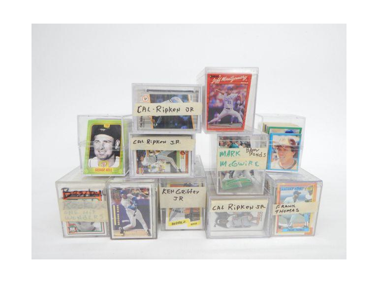 Collection of Sorted and Unsorted Baseball Cards