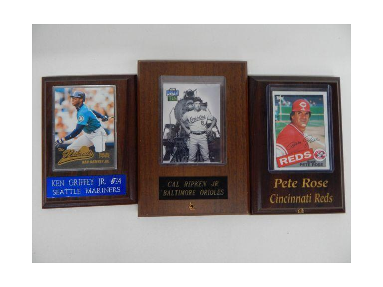 All Star Baseball Card Plaques