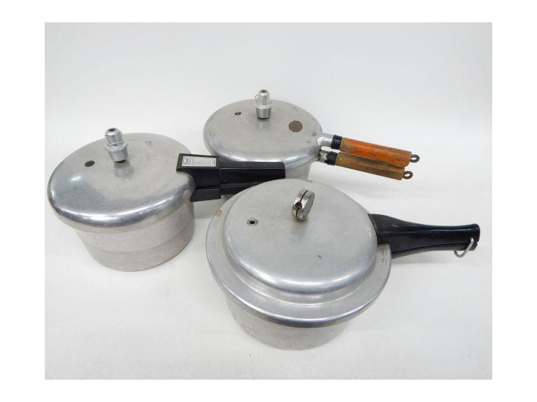 Collection of Aluminum Pressure Cookers