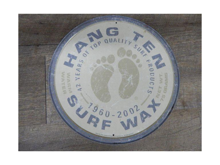 Hand Ten Surf Wax Sign