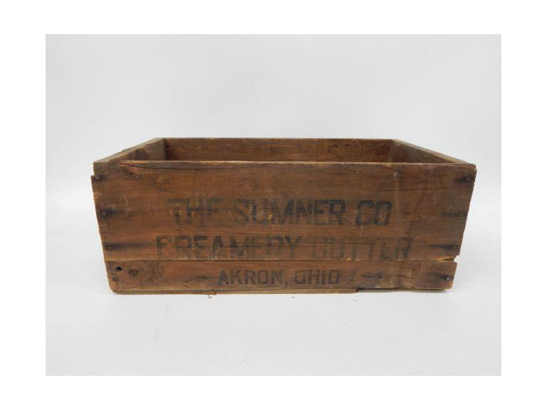 Sumner Butter Wooden Crate
