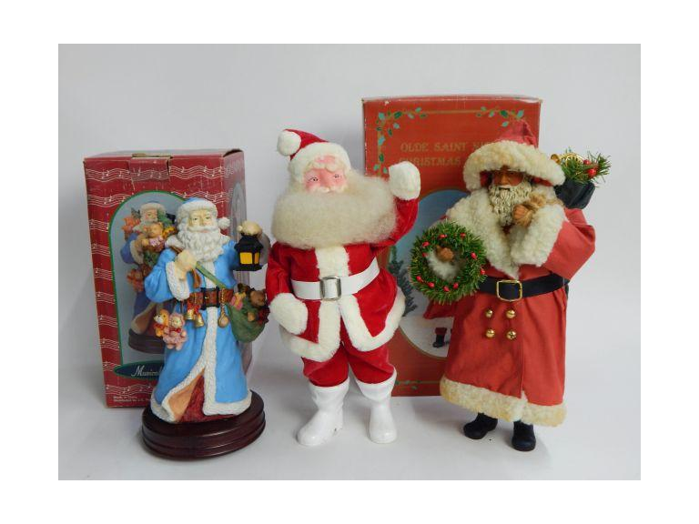 Collection of Santa Claus Figures
