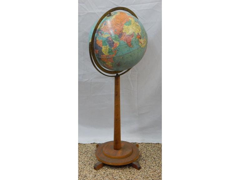 Vintage World Globe with Stand