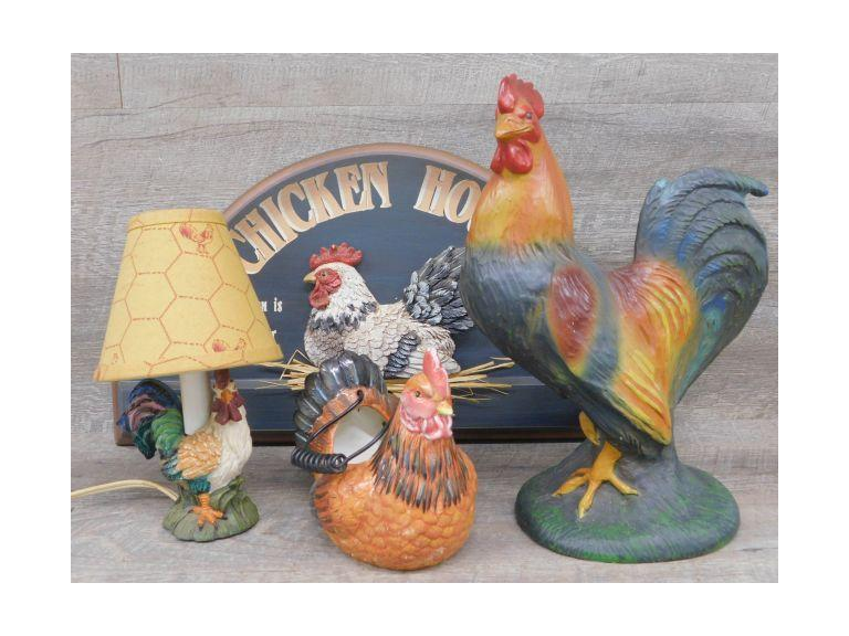Large Resin Rooster and More!