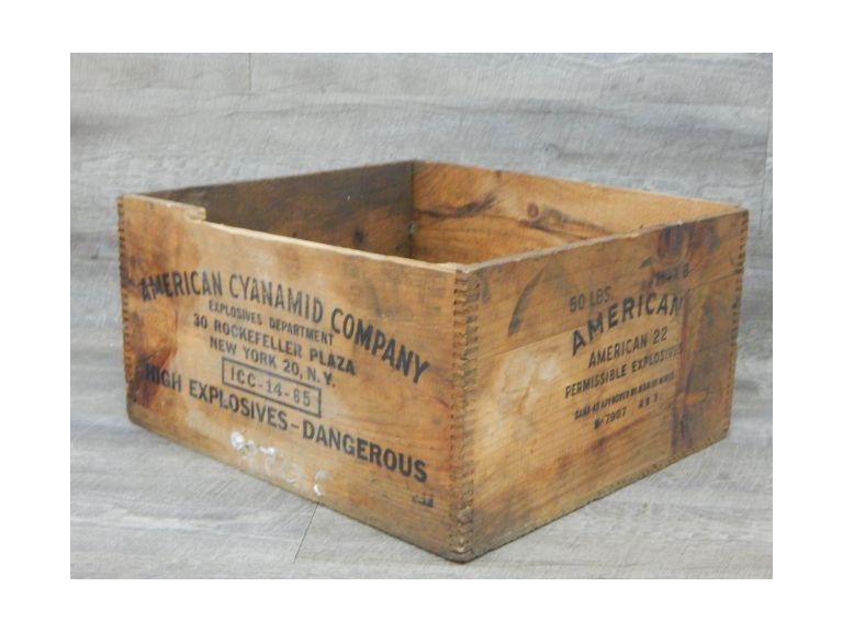 American Explosives Wood Shipping Box