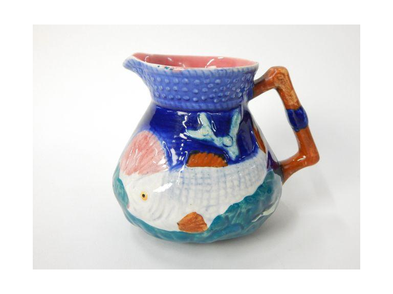 Majolica Ware English Pottery Pitcher