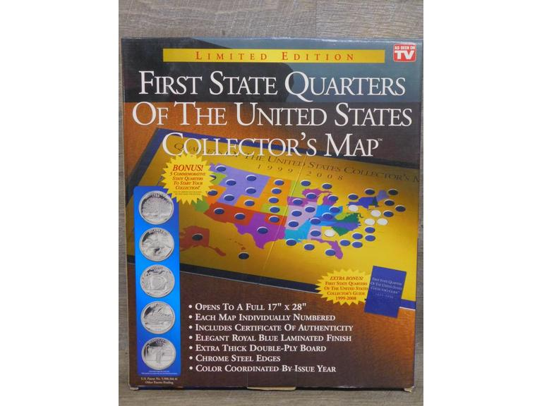 NEW First US State Quarters Collector's Map