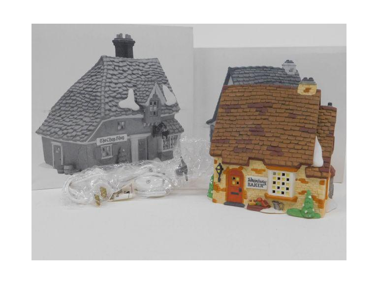 Dept. 56 Dickens' Village The Chop Shop and Wrenbury Baker