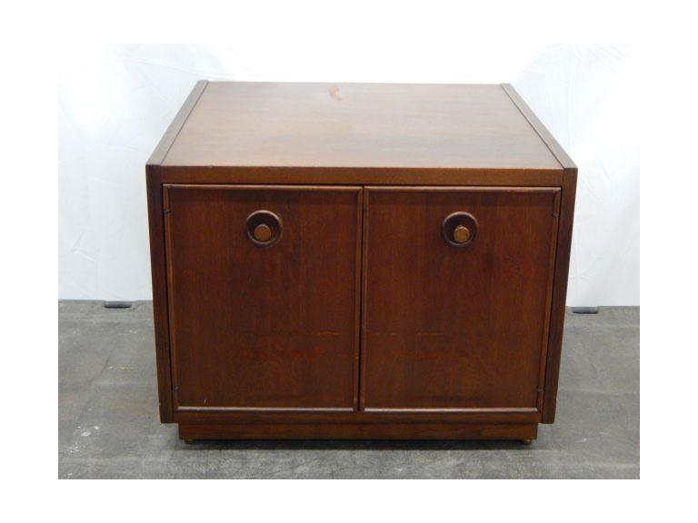 Walnut Wood End Table Cabinet