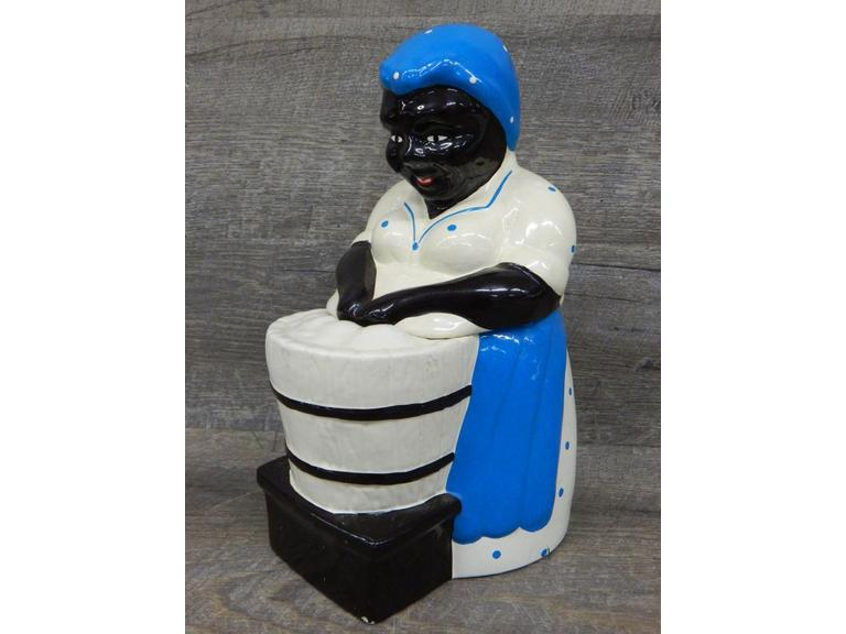 Black American Ceramic Cookie Jar