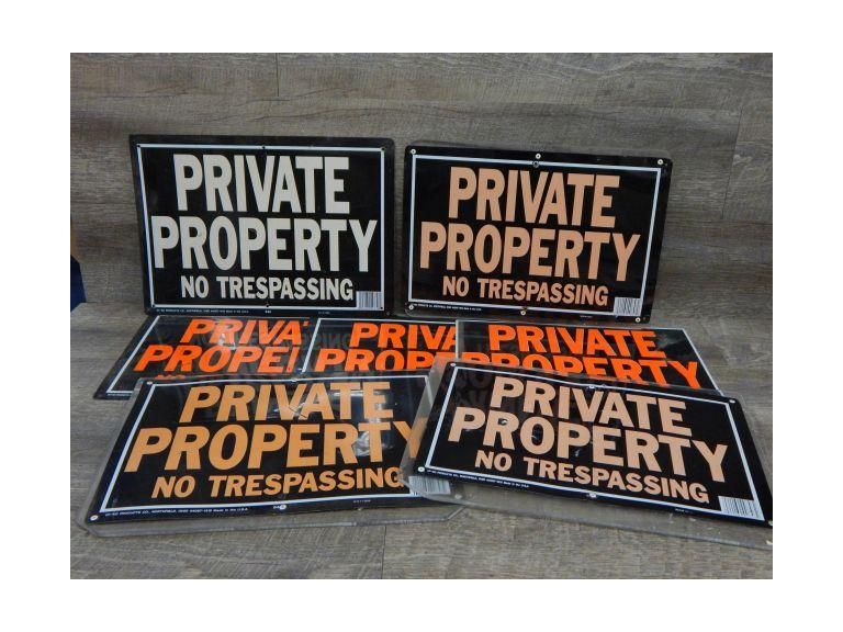 Collection of Private Property Signs