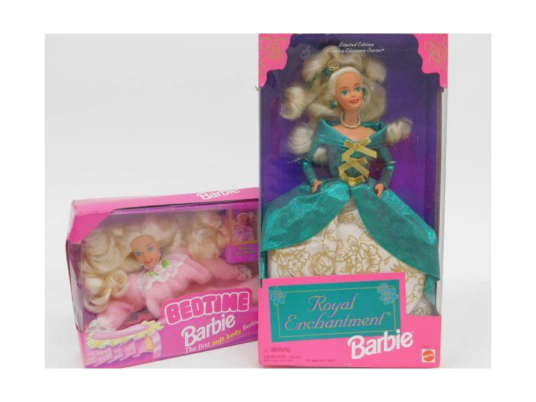 Bedtime and Royal Enchantment Barbies