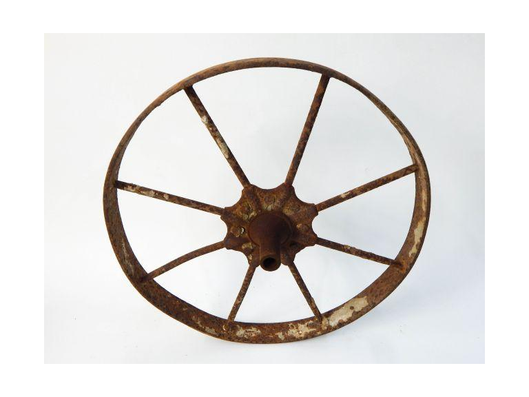 Industrial Iron Wagon Wheel