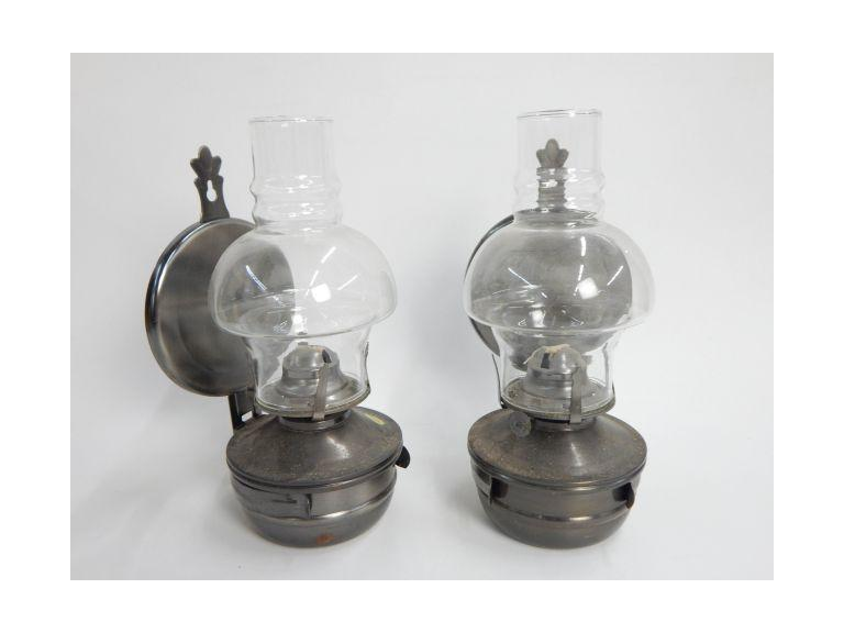Wall Mount Hurricane Oil Lamps