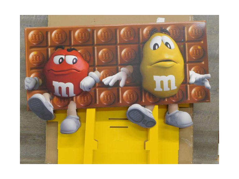 M&M Cardboard Display