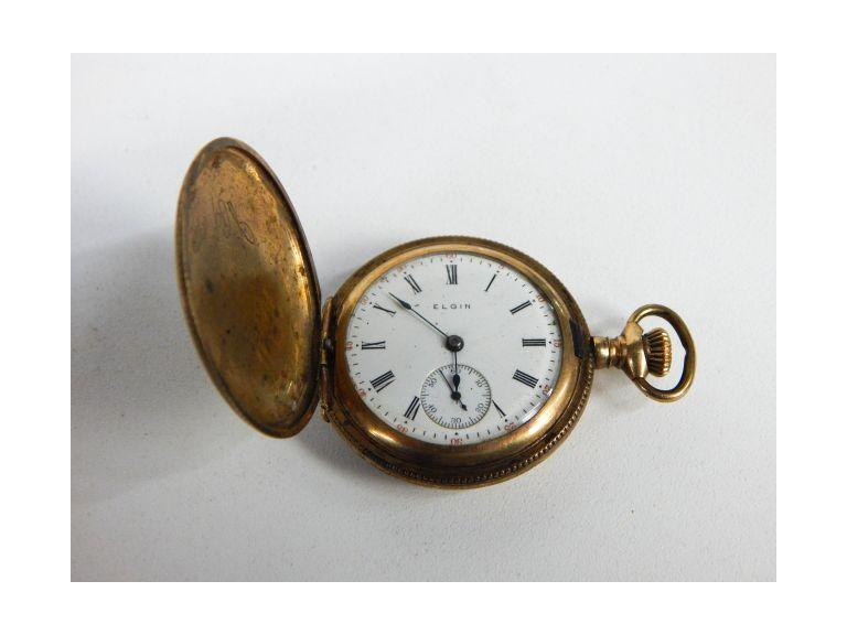 Antique Elgin Gold Plated Pocket Watch