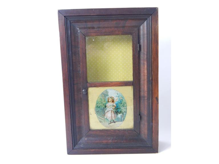 Antique Wood Cased Wall Cabinet