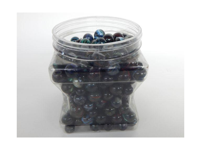 Collection of  Dark swirled Glass Marbles
