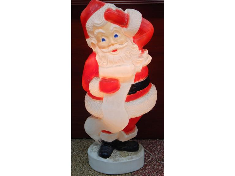 Blow Mold Light-Up Santa